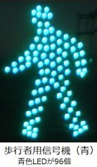 LEDを使った歩行者用信号(青色)