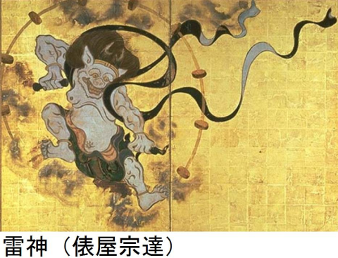 雷神(俵屋宗達)