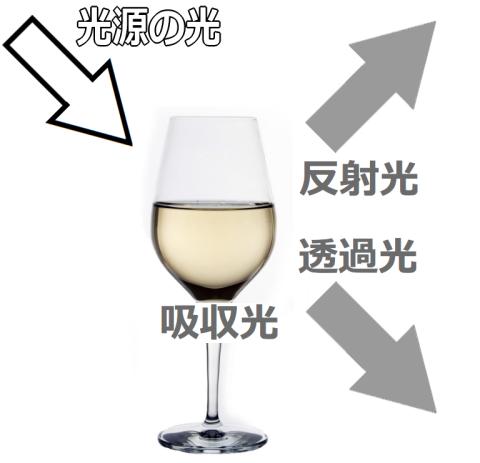 ワインを透過する光