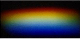 プリズムでできたスペクトル