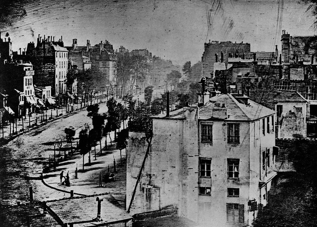 タンプル大通り(1838〜1839年ダゲール撮影)